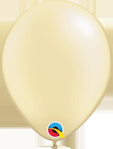 Balão de 5 Polegadas Marfim Qualatex - 05 unidades - Kit Teddys
