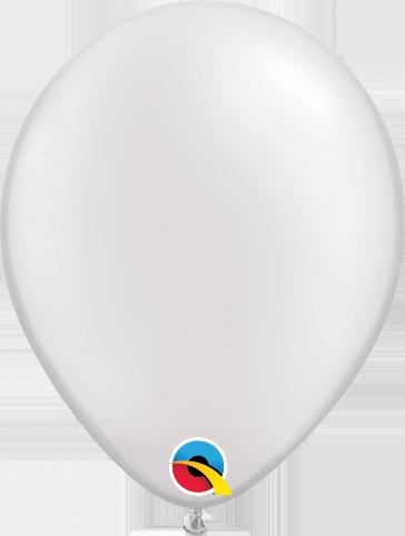 Balão de 11 Polegadas Branco Perolado Qualatex - 05 unidades - Kit Teddys
