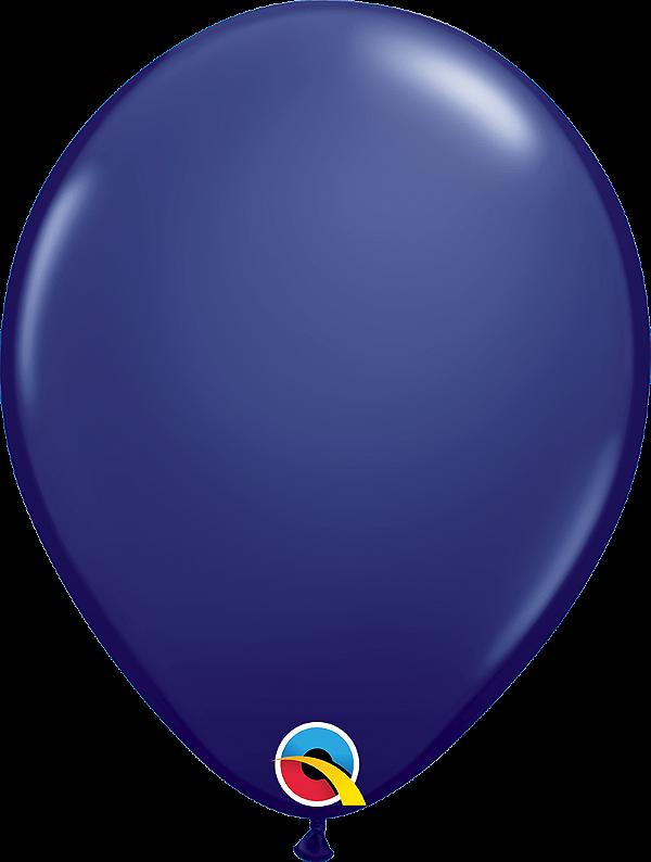 Balão de 11 Polegadas Azul Navy Qualatex - 05 unidades - Kit Teddys