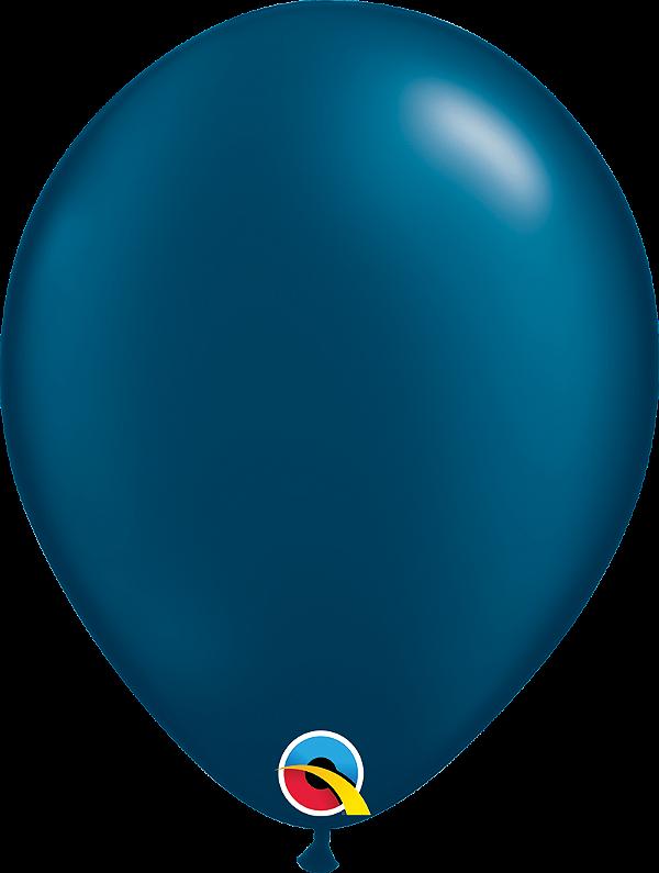 Balão de 11 Polegadas Azul Petroléo Qualatex - 05 unidades - Kit Teddys