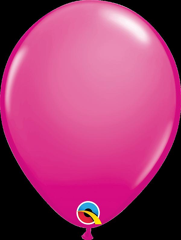 Balão de 11 Polegadas Rosa Cereja Qualatex - 05 unidades - Kit Teddys
