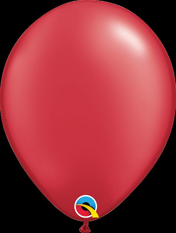 Balão de 11 Polegadas Vermelho Rubi Qualatex - 05 unidades - Kit Teddys