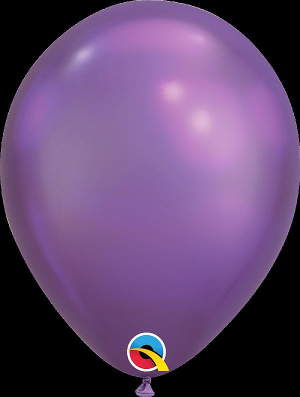 Balão de 11 Polegadas Roxo Cromado Qualatex - 05 unidades - Kit Teddys