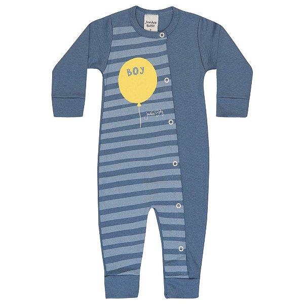 Macacão Infantil Balão Menino Azul Médio
