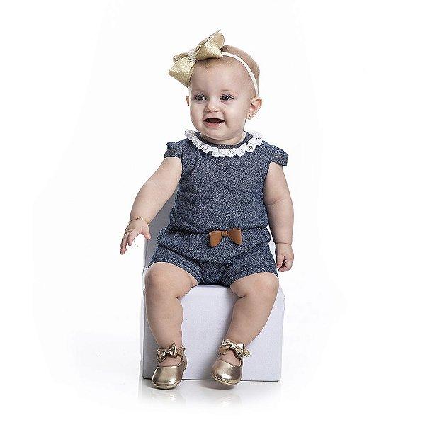 Macaquinho Suedine Infantil Menina