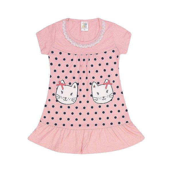 Vestido Gatinho Infantil Menina