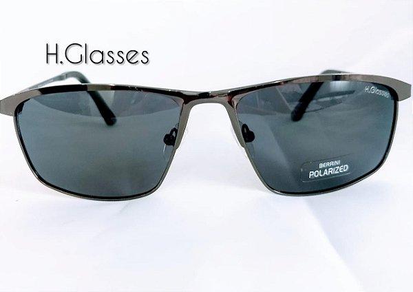 469c8cc3b Óculos de Sol Masculino Metal - Fumê/prata - H.Glasses