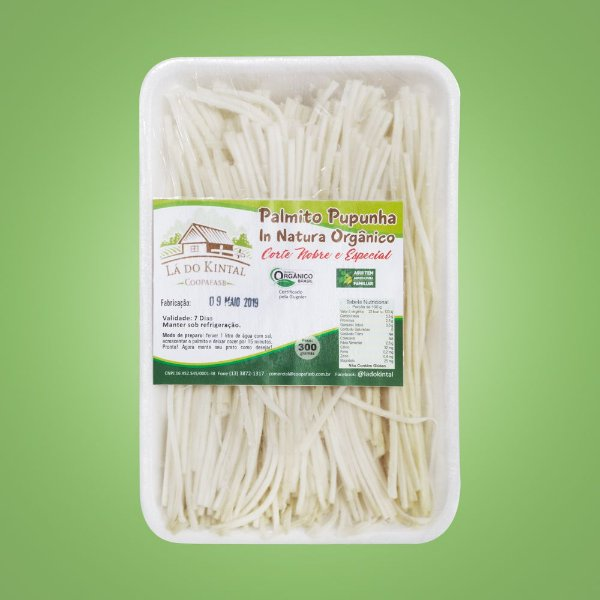 Palmito Pupunha Espaguete In Natura Orgânico – 300grs.