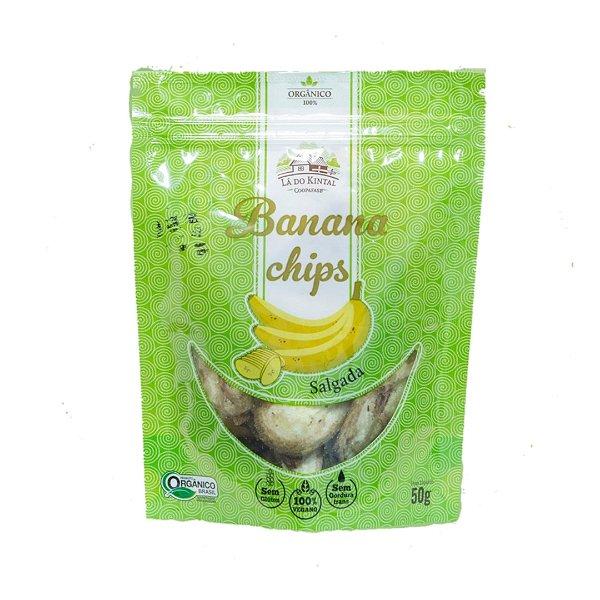 Chips de Banana Salgada Orgânica – 50grs.