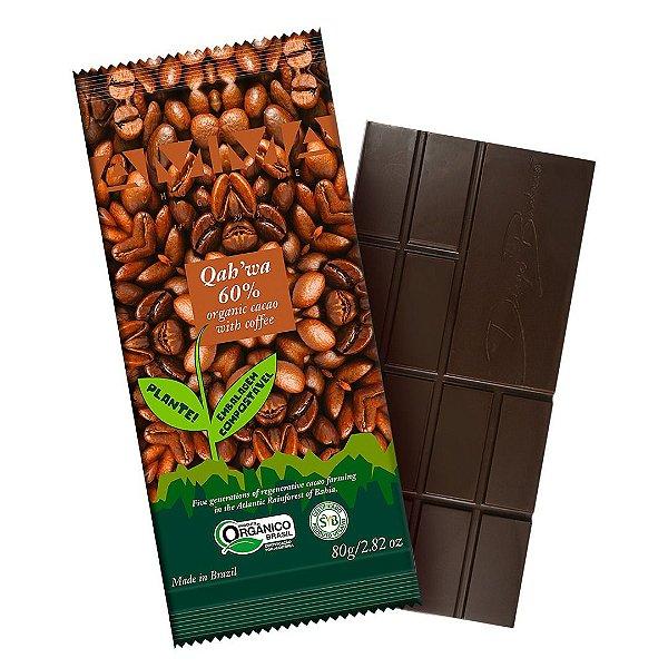 Chocolate Orgânico AMMA 60% Qahwa Café – 80grs.