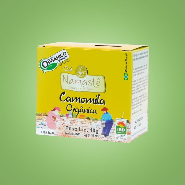 Chá de Camomila Orgânico – 10 sachês.