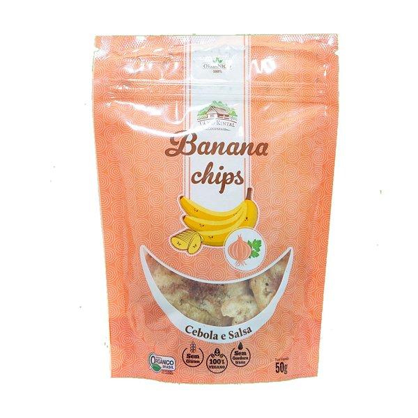 Chips de Banana Salgada Cebola e Salsa Orgânica – 50grs.