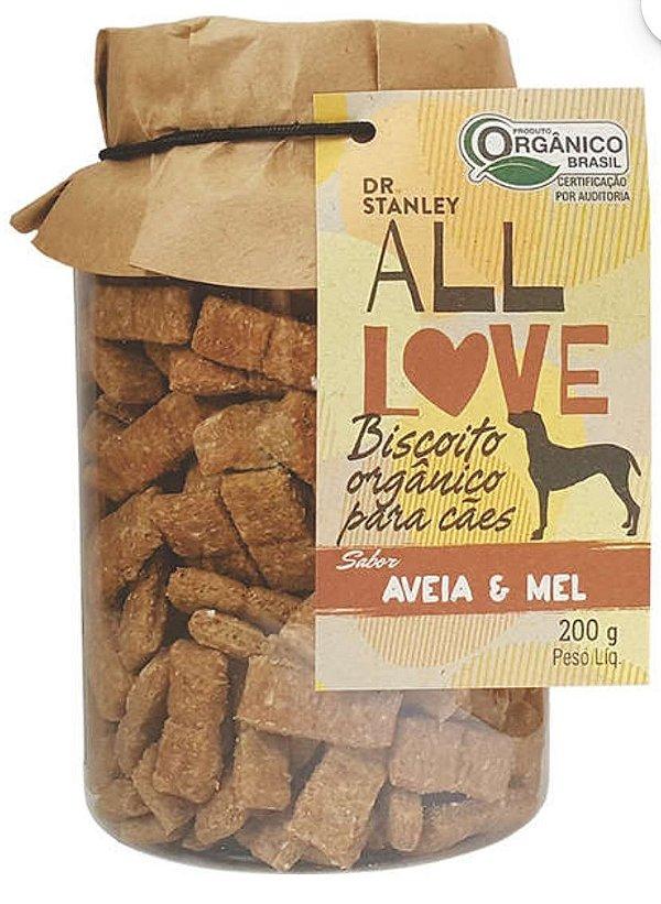 Biscoito Orgânico Aveia e Mel – 200grs.