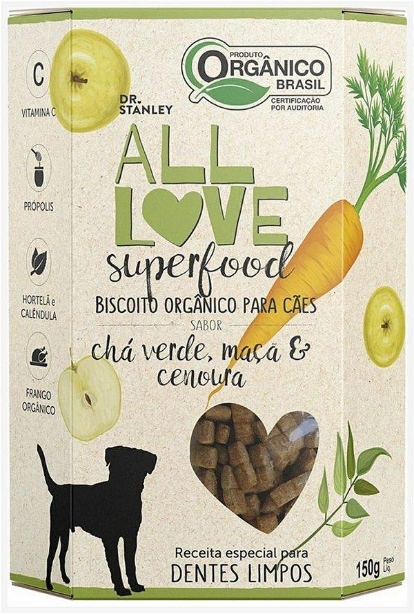 Biscoito Orgânico SuperFood Chá Verde, Maça e Cenoura – 150grs.