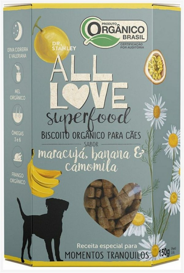 Biscoito Orgânico SuperFood Maracujá, Banana e Camomila – 150grs.