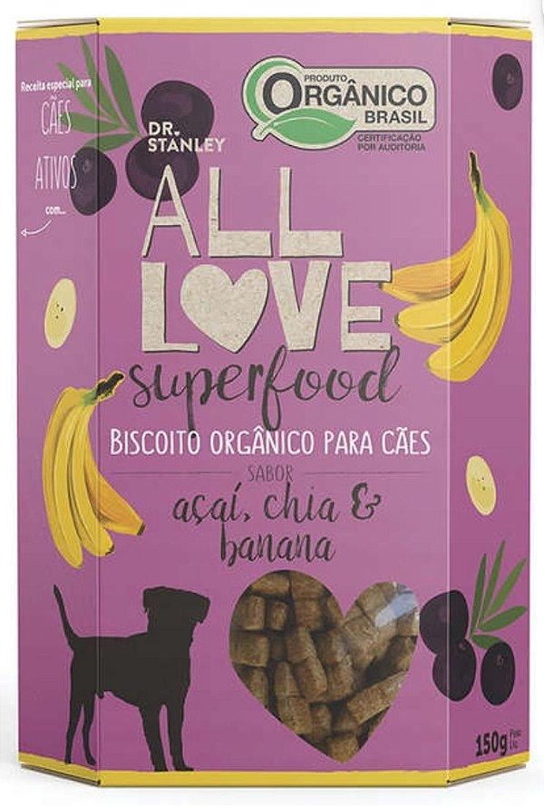Biscoito Orgânico SuperFood Açaí, Chia e Banana – 150grs.