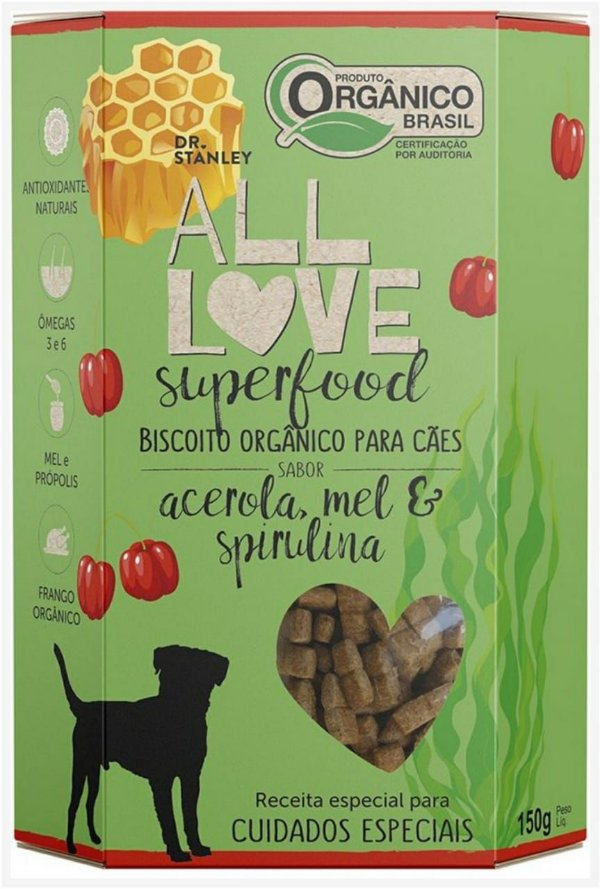 Biscoito Orgânico SuperFood Acerola, Mel e Spirulina – 150grs.