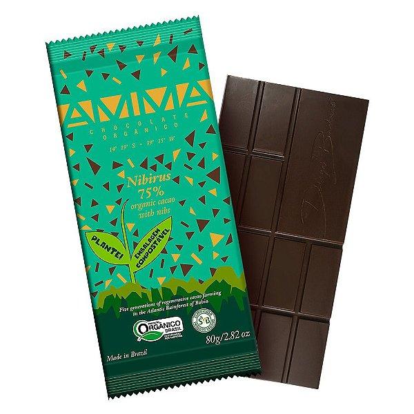 Chocolate Orgânico AMMA 75% Nibirus – 80grs.