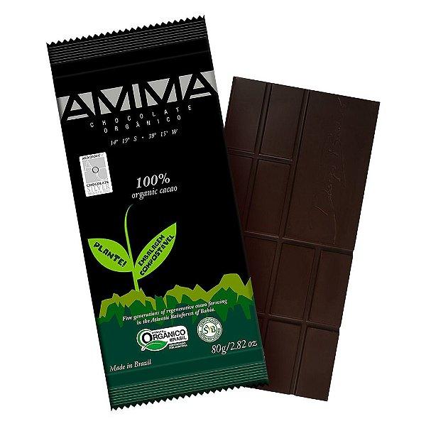 Chocolate Orgânico AMMA 100% Cacau – 80grs.