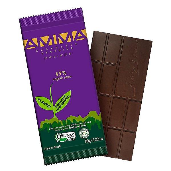 Chocolate Orgânico AMMA 85% Cacau – 80grs.