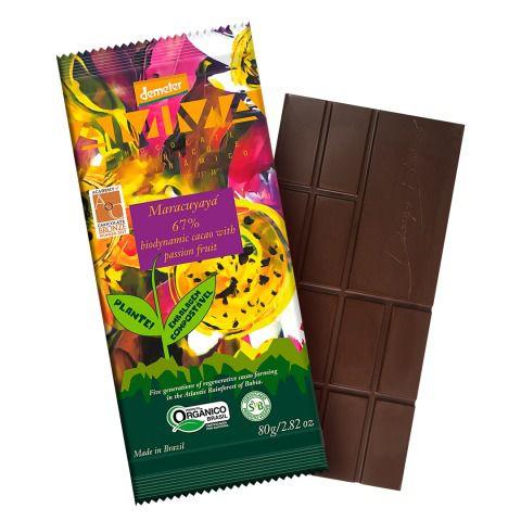 Chocolate Orgânico AMMA 67% Maracuyaya - 80grs.