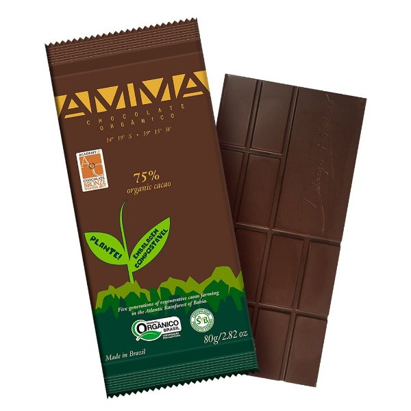 Chocolate Orgânico AMMA 75% Cacau – 80grs.