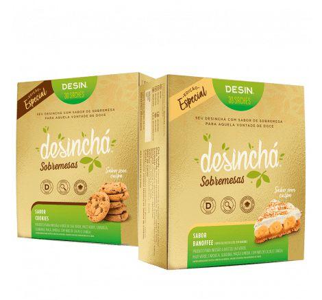 Combo Desinchá Sobremesas - Sabor Cookies e Banoffee - 60 sachês - Edição Especial