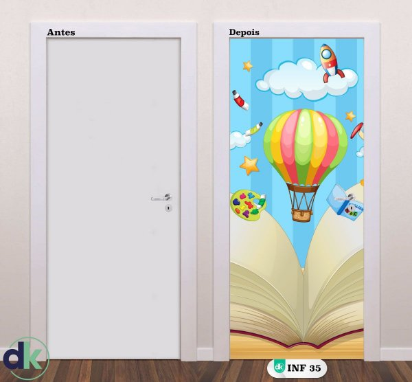 Adesivo decorativo de Porta Balões