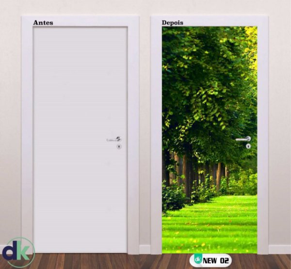 Adesivo decorativo de Porta Floresta New 02