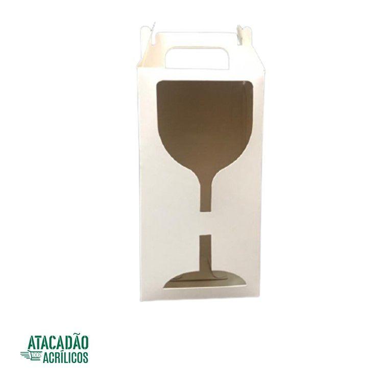 CAIXINHA TAÇA GIN RESINADA COM VISOR