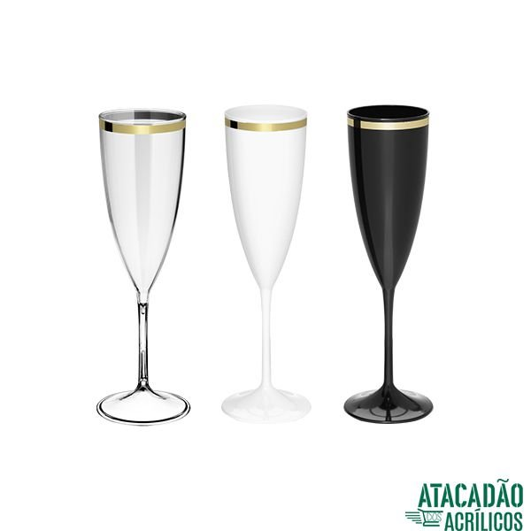 Taça De champagne Golden 190ml