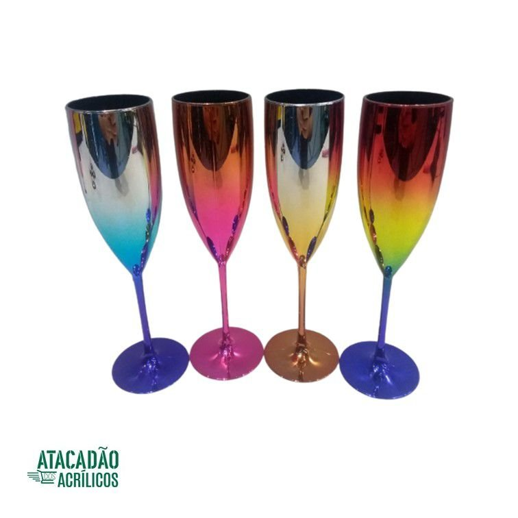 TAÇA CHAMPAGNE 170ML METALIZADA DEGRADE