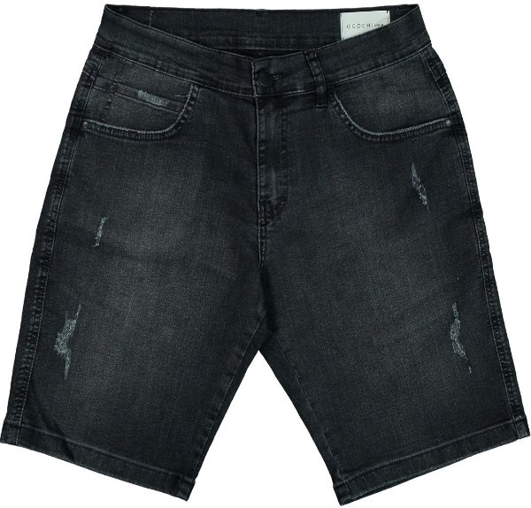 Bermuda Jeans Ogochi Estonada com Puído