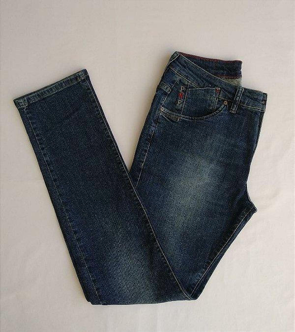 Calça Jeans Pininfarina Slim Com Lavagem