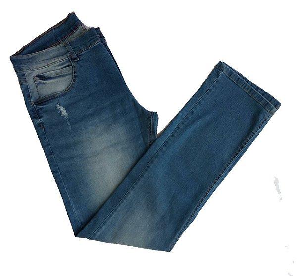 Calça Jeans Ogochi Slim Fit Concept com Lavagem e Detalhes