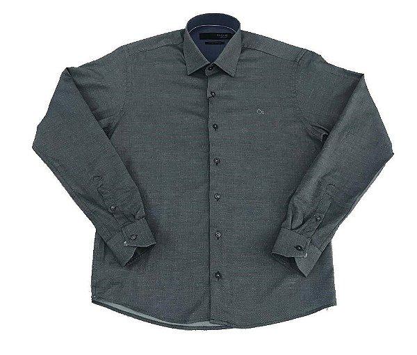 Camisa Manga Longa Ogochi Slim Detalhada