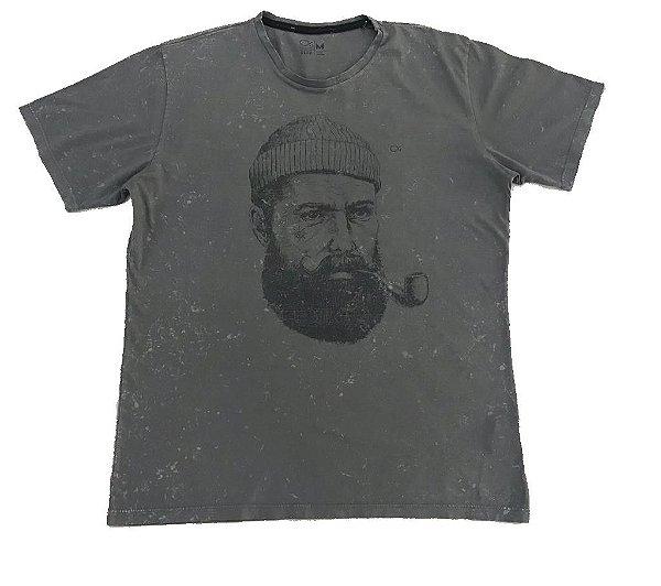 Camiseta Manga Curta Ogochi Slim Marinheiro