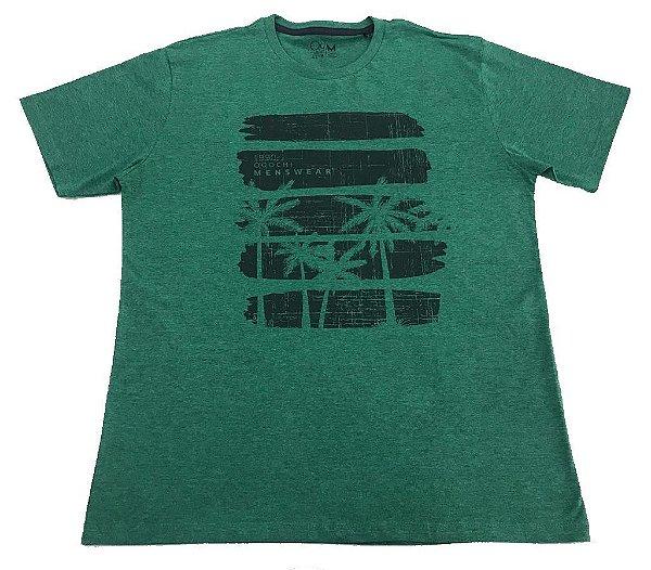 Camiseta Manga Curta Ogochi Slim Verde