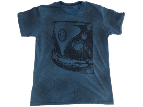 Camiseta Ogochi Gola Redonda Estampa Kombi Azul