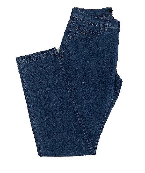 Calça Jeans Pierre Cardin Cintura Média Lisa