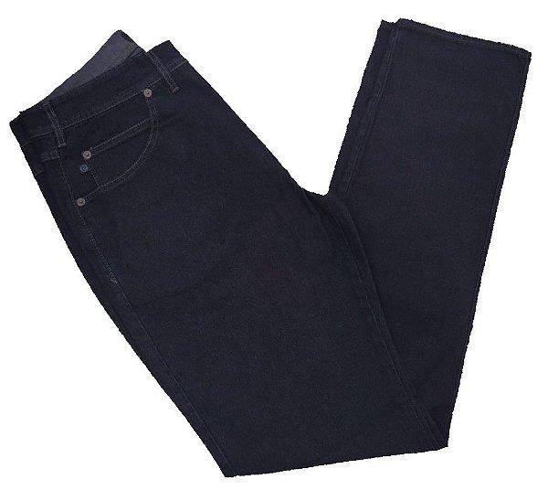 Calça Jeans Pierre Cardin Tradicional Reta Azul Escura