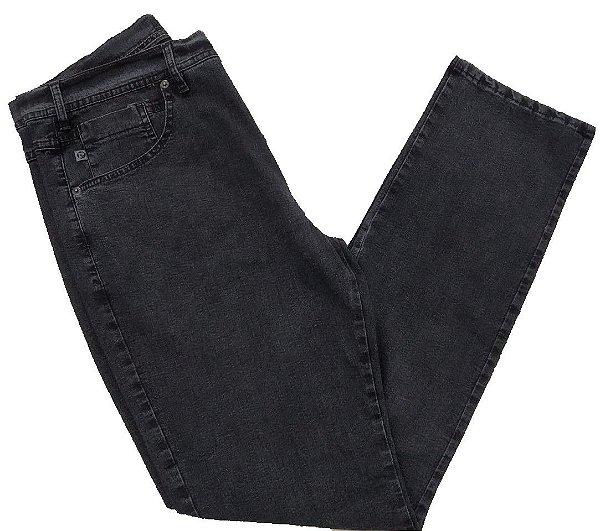 Calça Jeans Pierre Cardin Cintura Média Escura