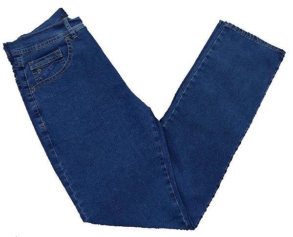 Calça Jeans Pierre Cardin Cintura Média Azul