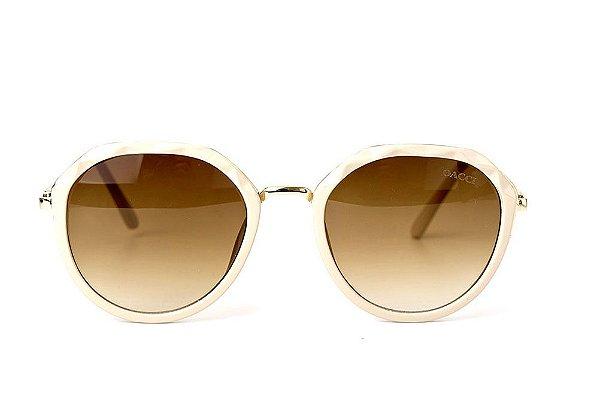 4ddc70a55 ÓCULOS DE SOL FEMININO 11029 CREME - ORIGINAL - OACCI - Eyewear ...