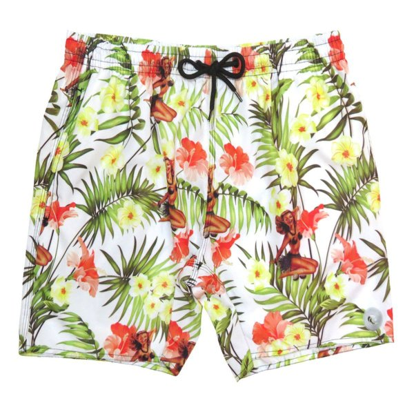 Shorts Praia Masculino WSS Waves Hawaiian 17