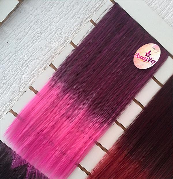 Aplique Tic Tac Cabelo Orgânico Roxo Com Rosa Fotos Reais
