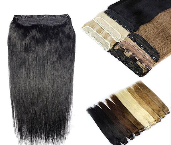 Mega Hair Tic Tac Cabelo Humano 1 peça 50cm até 55cm 100g até 160g