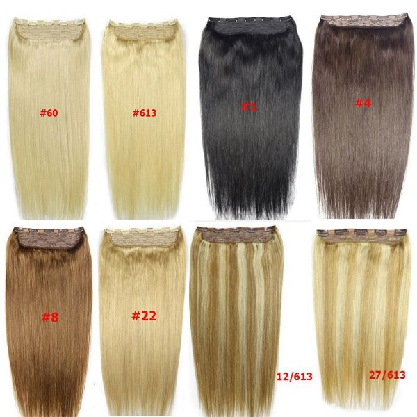 Mega Hair Tic Tac Cabelo Humano 1 peça 30cm 80g