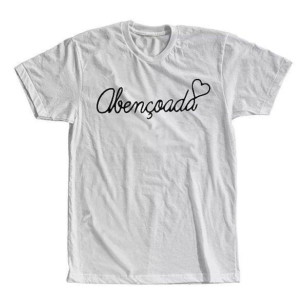 Camiseta Abençoada Coração