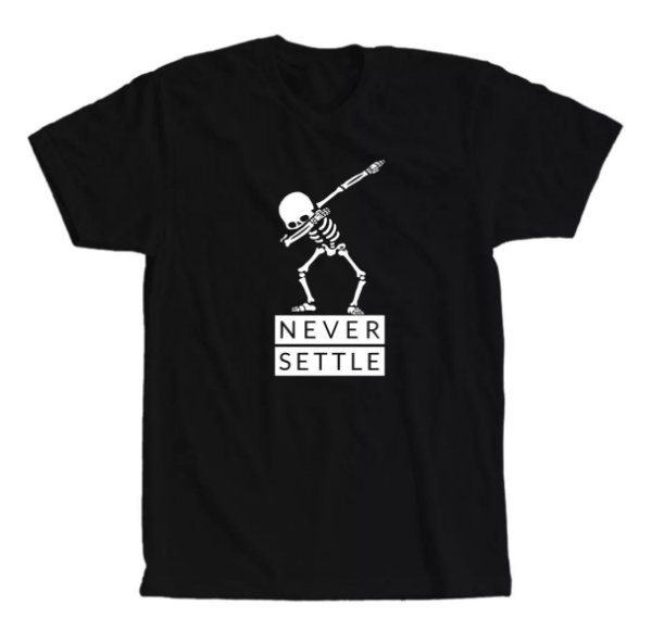 Camiseta Esqueleto Never Settle